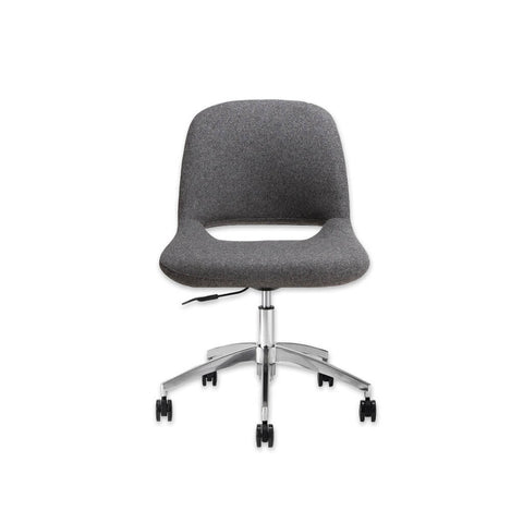 Ola Dark Grey Desk Chair with Fully Upholstered Seat and Backrest with Star Base and Castors 5010 DC1