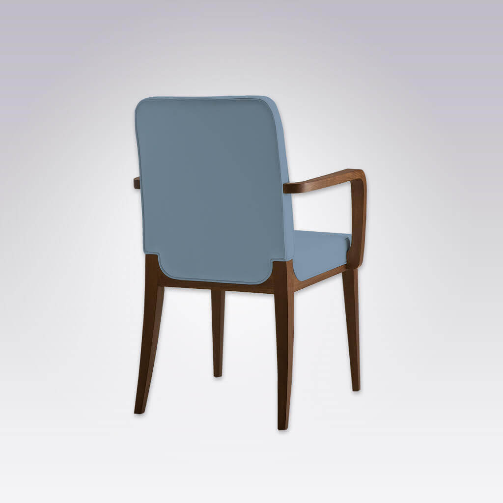 Opera Beige Dining Wooden Frame with Splayed Legs and Extended Upholstery Detail over Back Legs 4035 AC1