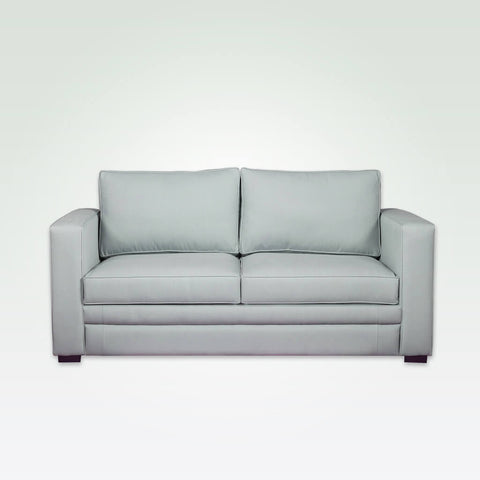 Otero light grey sofa with leather upholstery and soft seat and back cushions 8029 SF1