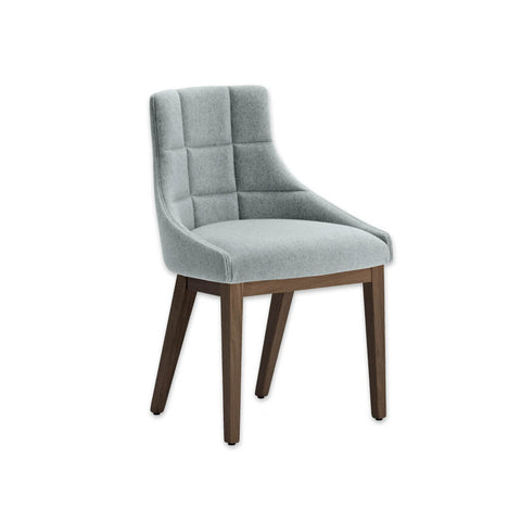 Paris Duck Egg Blue Armchair with a Curved Back and Quilting Detail 3008 RC1