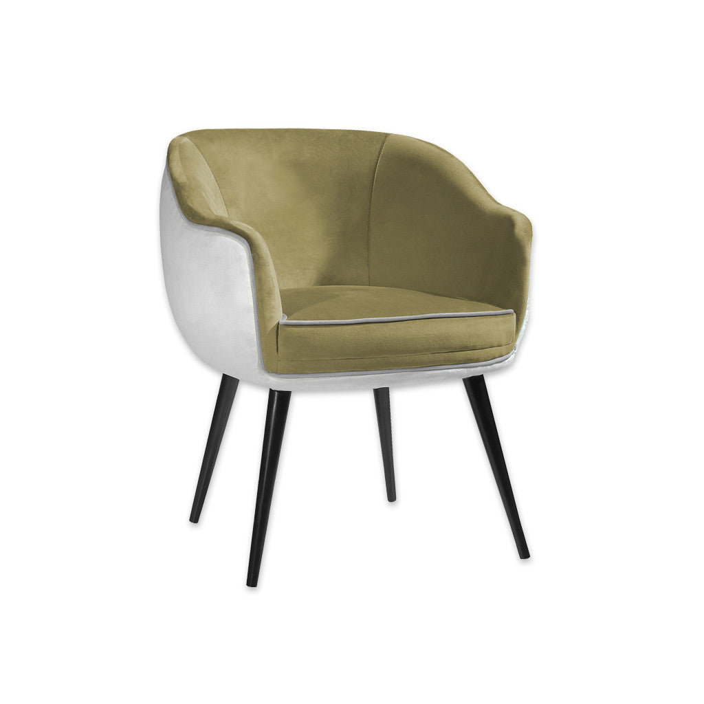 Pebble Light Green Tub Chair With a Shell Back and Tapered Conical Legs 2008 TC1 - Designers Image