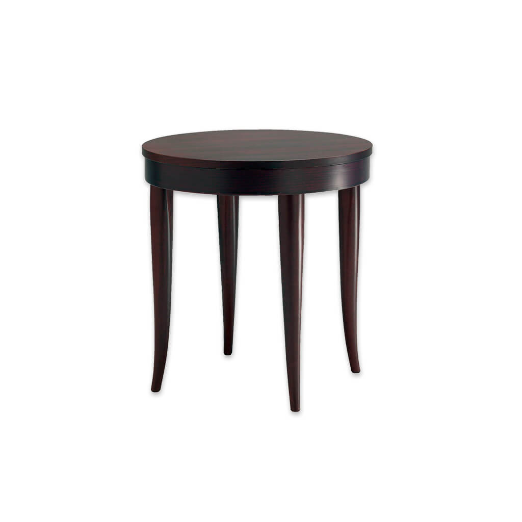 Rizolli round bar table with down stand and curved tapered legs.  1140 - Designers Image