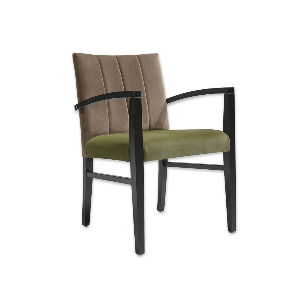 Sage Green and Brown Chair with Angular Arms 4034 AC1 - Designers Image