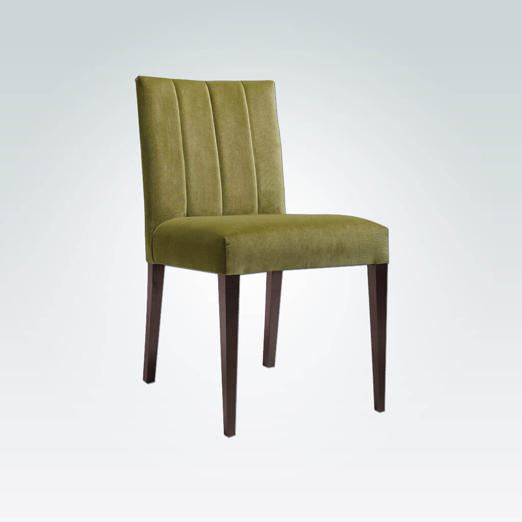 Sage Fully Upholestered Green Dining Chair with Tapered Legs 3064 RC1
