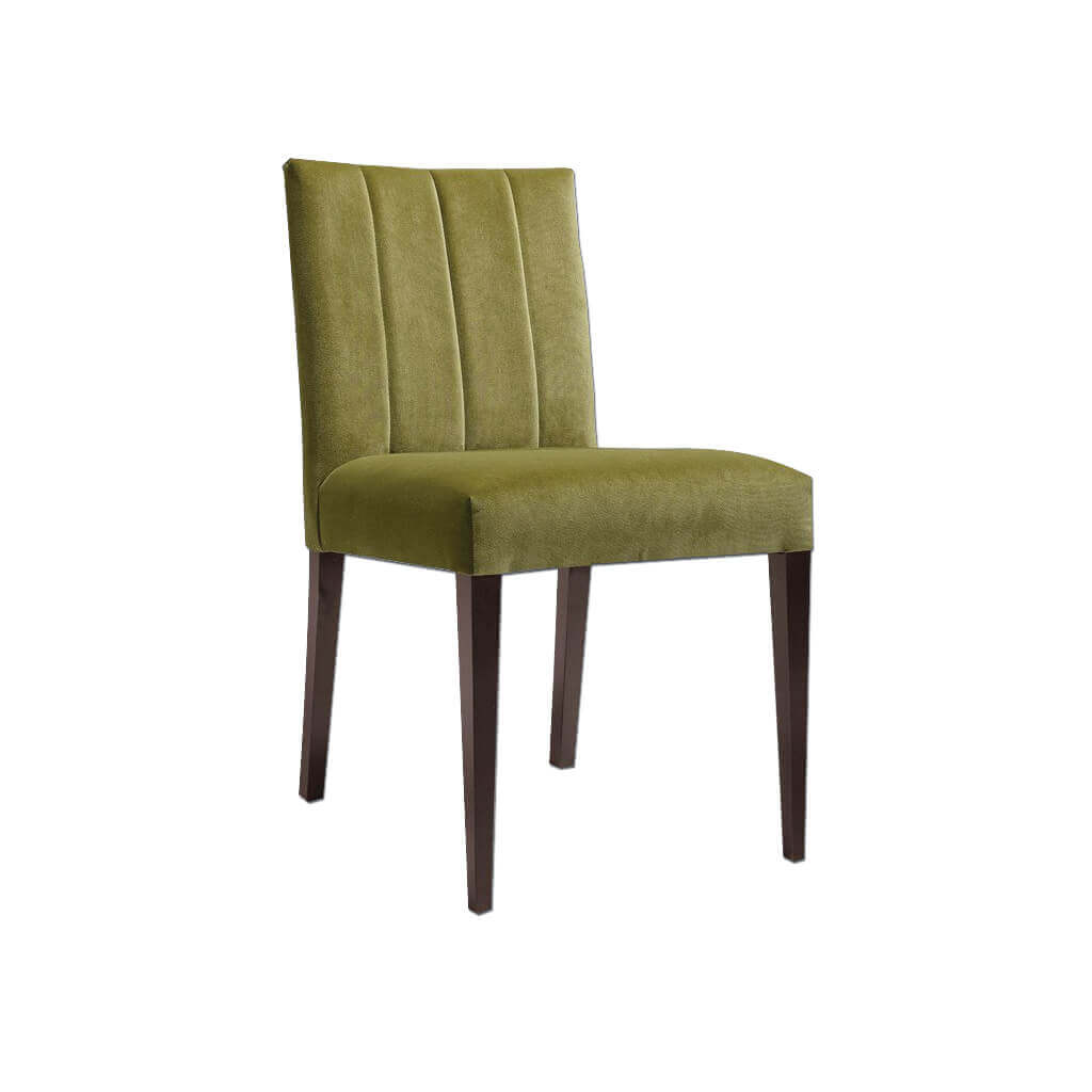 Sage Fully Upholestered Green Dining Chair with Tapered Legs 3064 RC1 - Designers Image