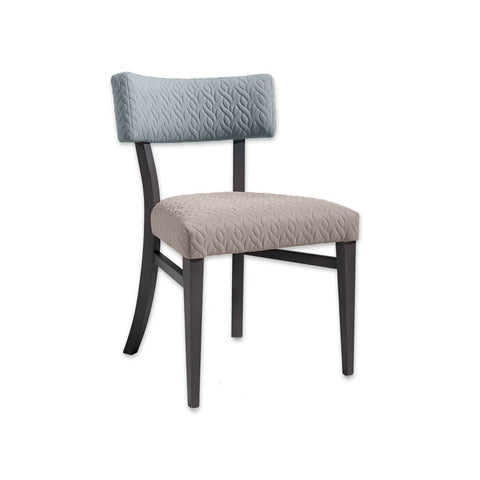 Sandra Upholestered Light Blue Dining Chair with Open Back and Side Stretchers 3071 RC1
