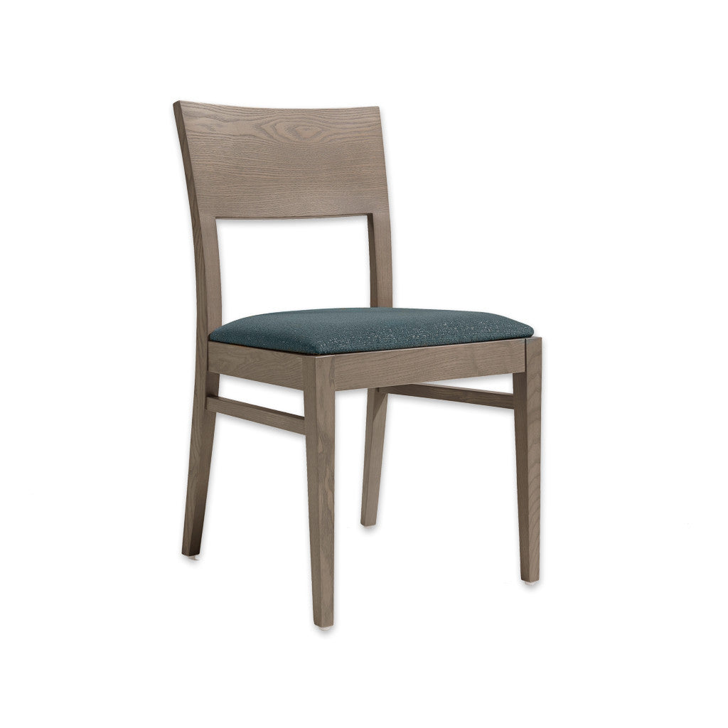 Sapphire Blue Dining Chair with Timber Open Back and Drop in Seat Pad 3035 RC1 - Designers Image