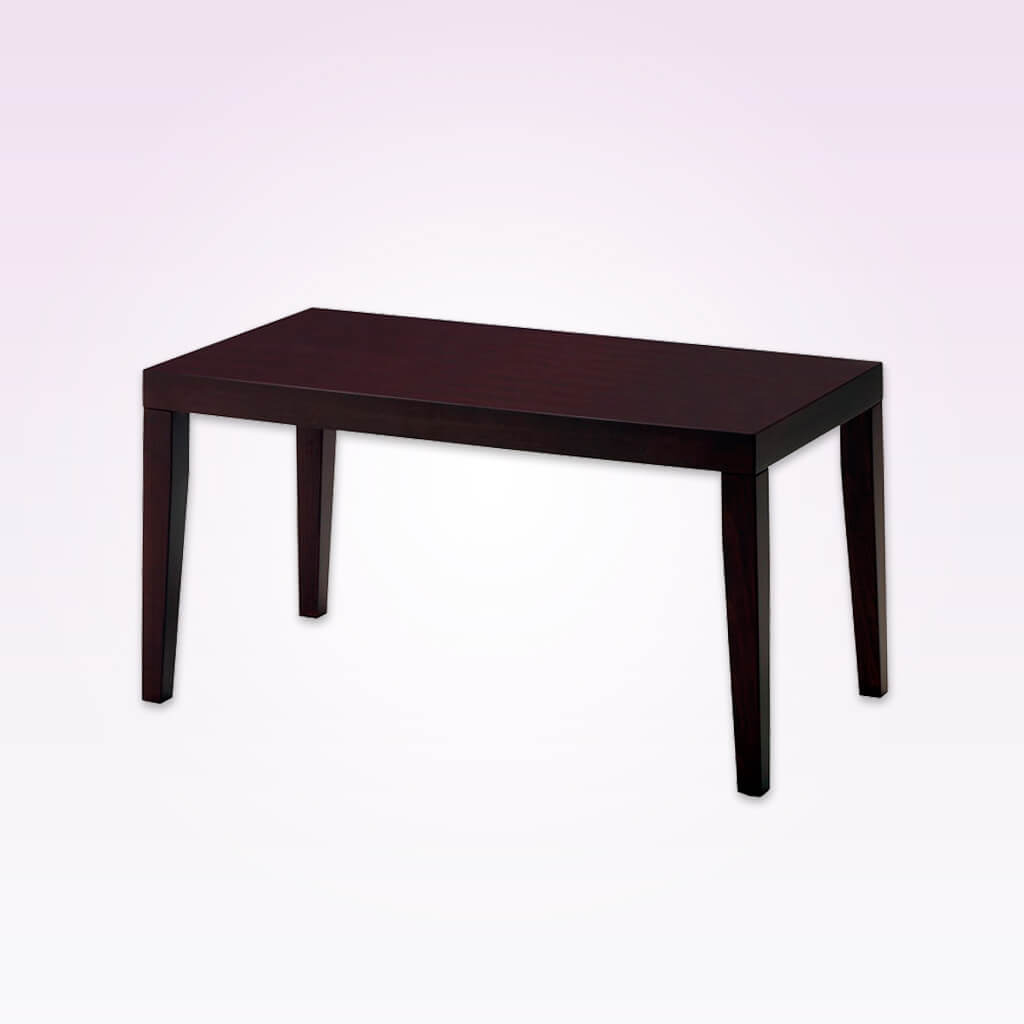 Sativa dark brown rectangular dining table with tapered legs. 1145