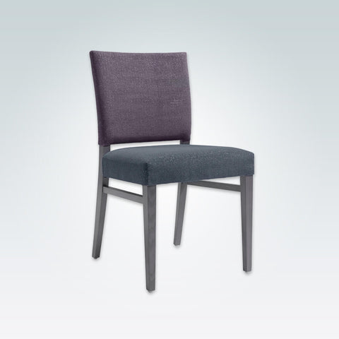 Scarlett Purple Upholstered Dining Chair Upholstered Back and Seat Pad with Wooden Leg Strengthening Bars 3034 RC1
