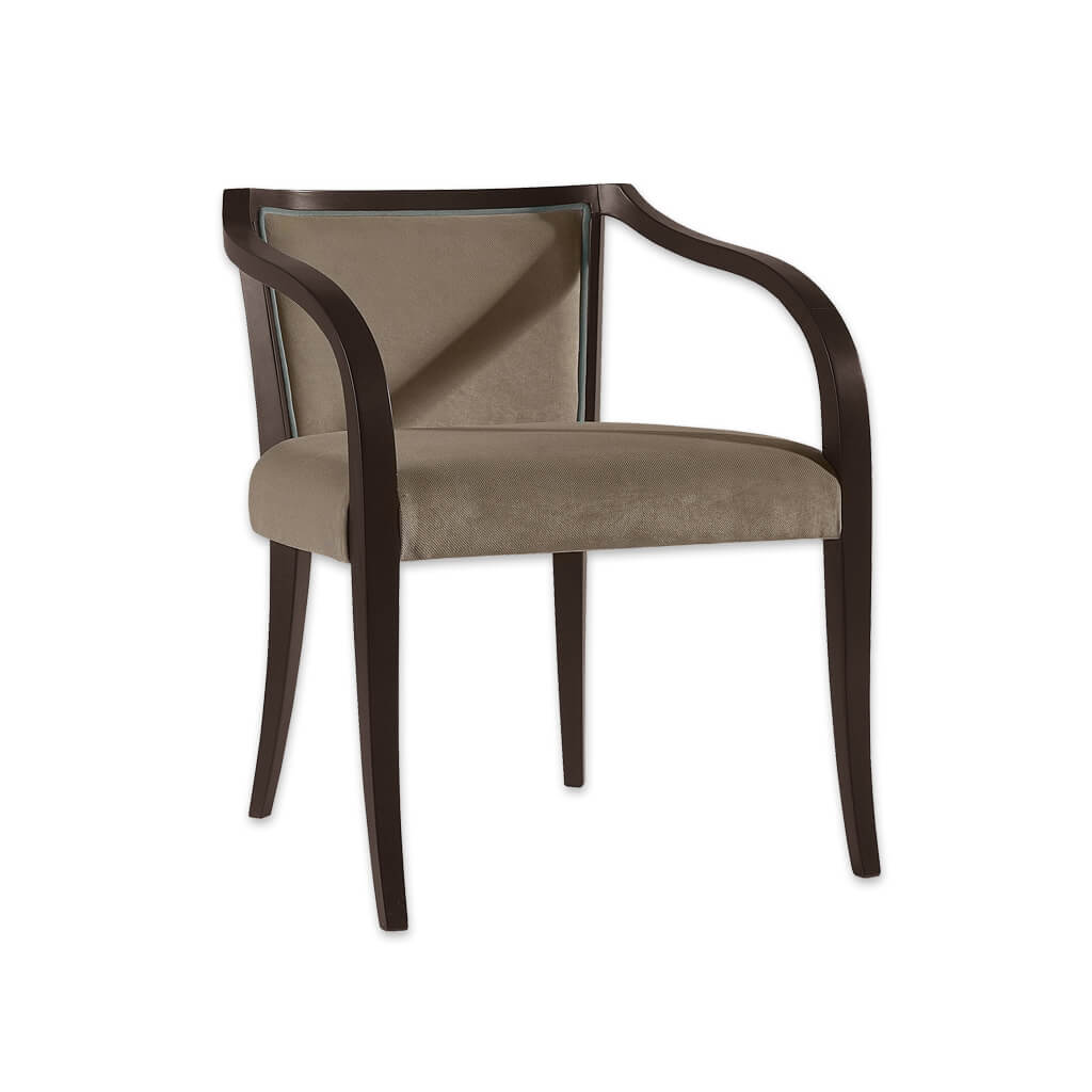 Sierra Brown Wooden Chair with Curved Arms and Splayed Legs 4039 AC1 - Designers Image