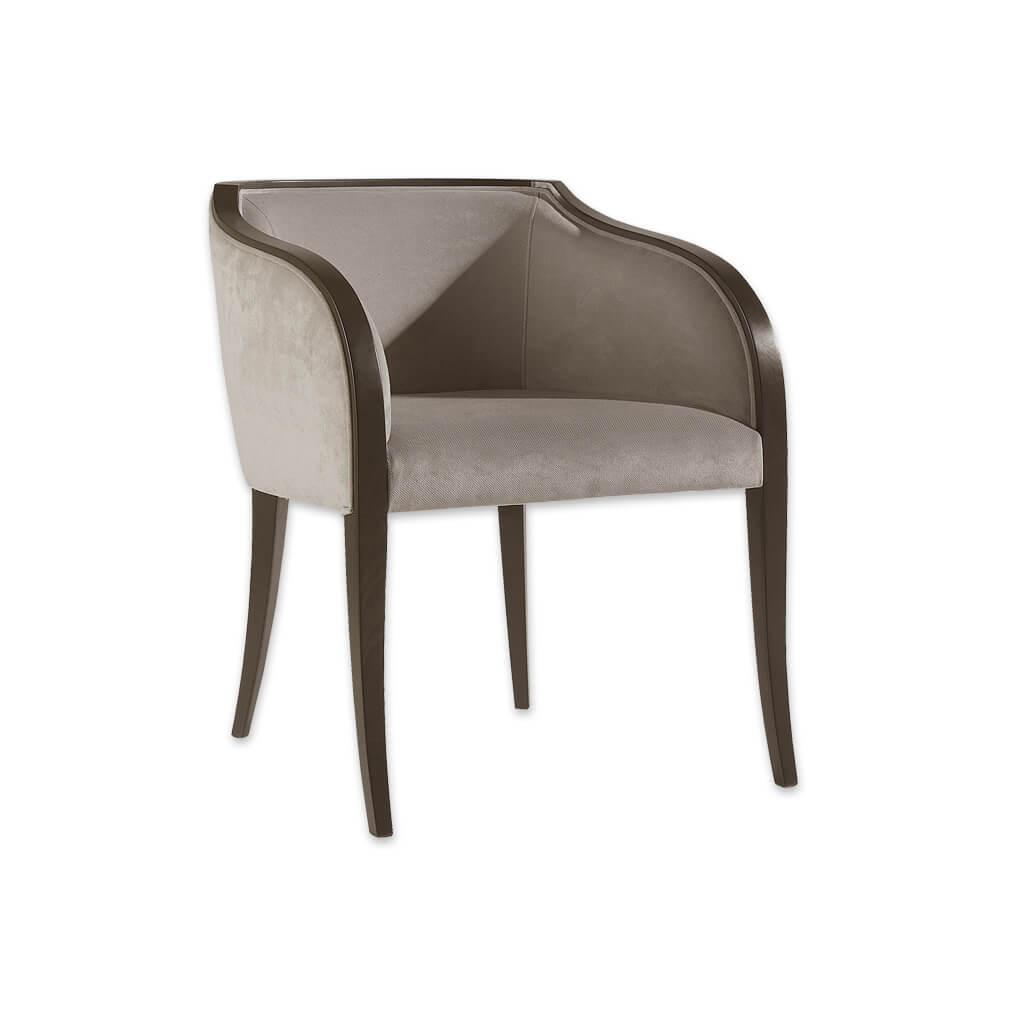 Sierra Fabric Tub Chair With Forward Splayed Legs and Sweeping Armrests 2052 TC1 - Designers Image