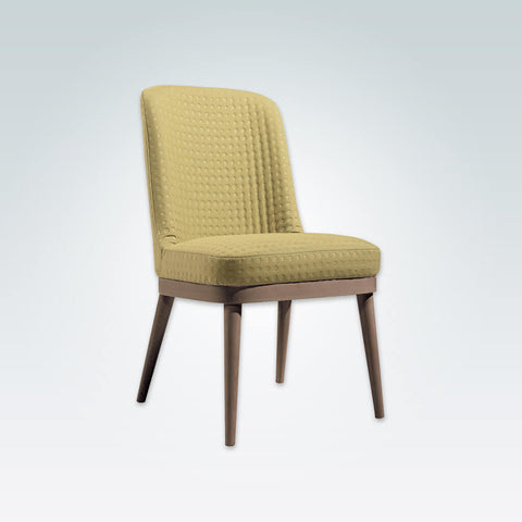 Stella Nordic Yellow Dining Chair with Show Wood Plinth and Splayed Back Legs 3041 RC1