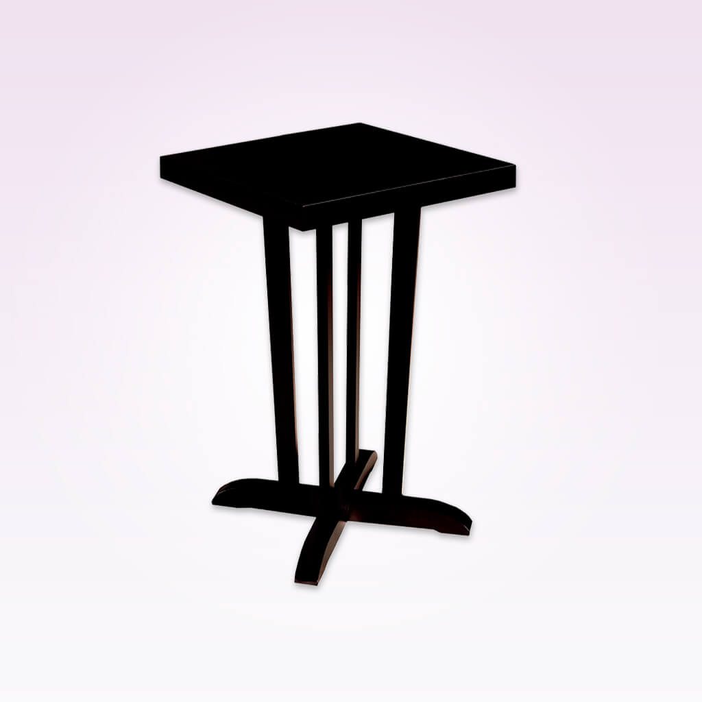 Tinella tall dark brown dining table with distinctive legs and square top. 1151