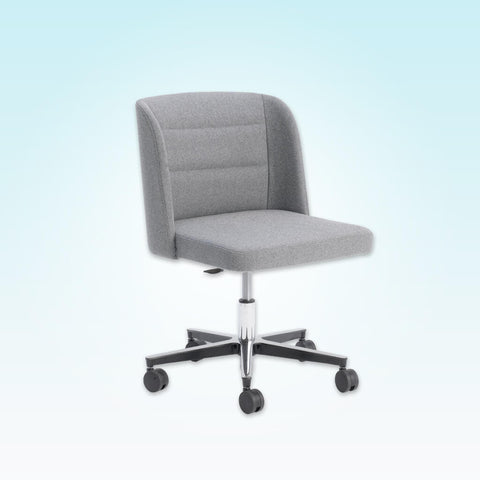 Titan Grey Swivel Desk Chair with Square Seat Pad and Backrest with Winged Sides 5002 DC1