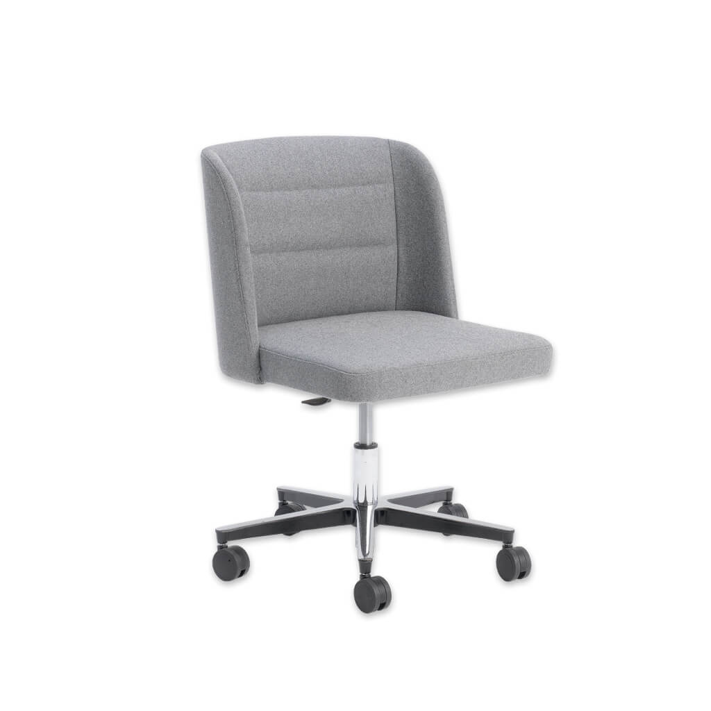 Titan Grey Swivel Desk Chair with Square Seat Pad and Backrest with Winged Sides 5002 DC1 - Designers Image