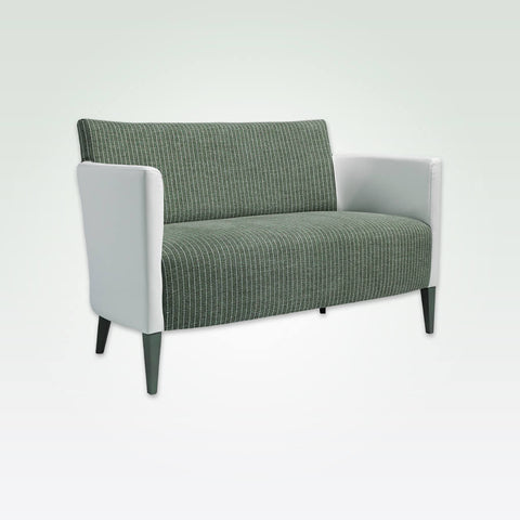 Tori contemporary green and white sofa with contrast upholstery and tapered legs 8027 SF1