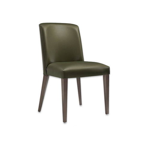 Tori Fully Upholestered Olive Green Dining Chair with Splayed Back Legs 3068 RC1