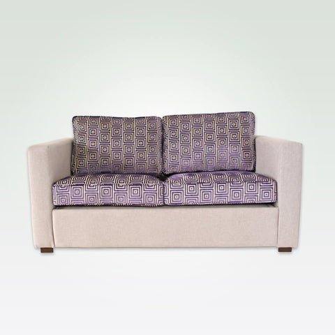 Trinity purple and cream hotel sofa with deep base and contrasting removable seat cushions 8019 SF1