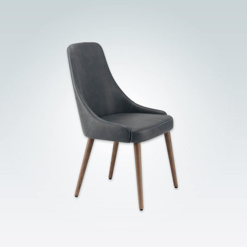 Tyla Sweeping Arm Dark Grey Dining Chair with A Curved Back 3006 RC1