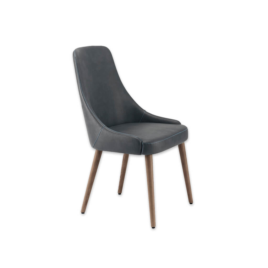 Tyla Sweeping Arm Dark Grey Dining Chair with A Curved Back 3006 RC1 - Designers Image