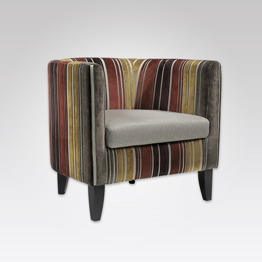 Villa Fully Upholstered Multi Coloured Armchair with Loose Seat Pad 1059 LC1