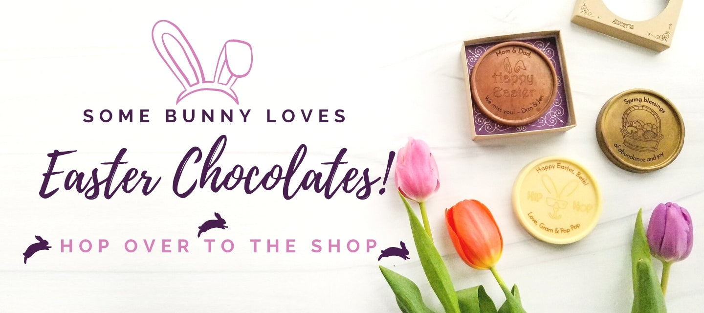 Engraved custom chocolates for easter