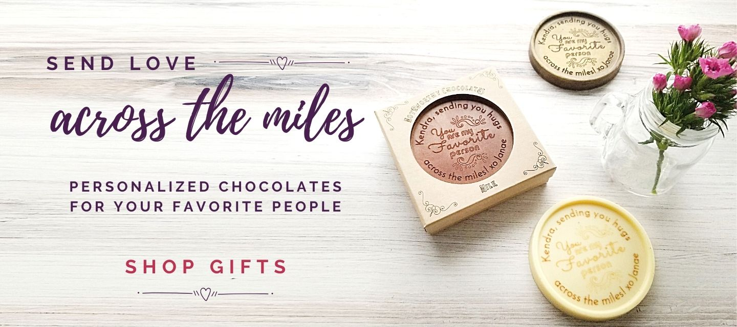 Personalized engraved chocolate gifts