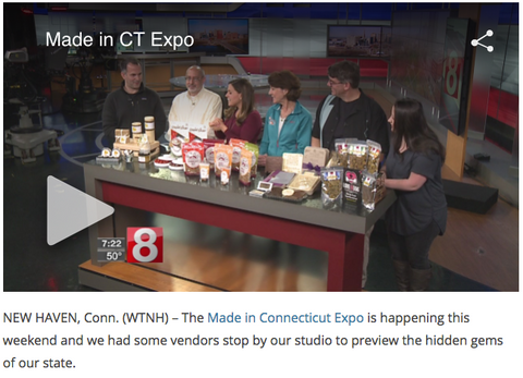 Noteworthy Chocolatess Made in CT Expo feature on WTNH News8