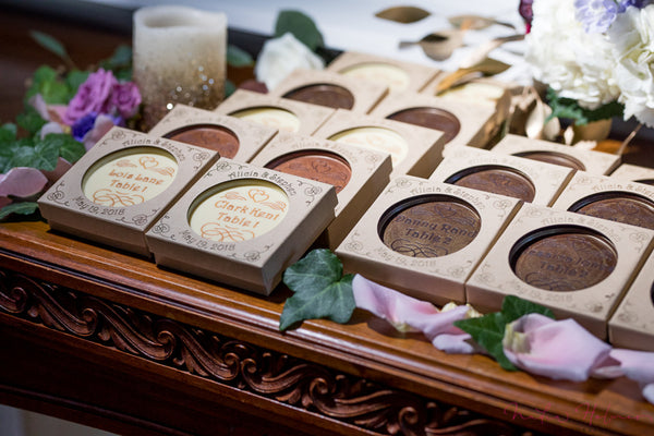 custom chocolate escort cards
