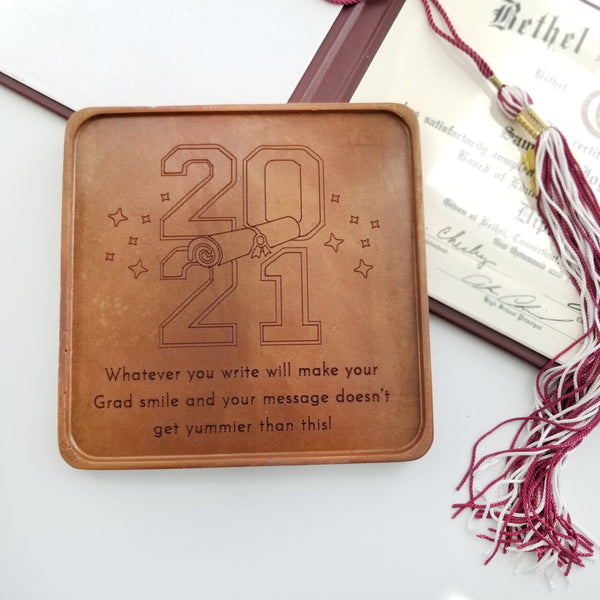 Noteworthy Chocolates Greetings 2021 Grad Personalized Chocolate Card Personalized custom