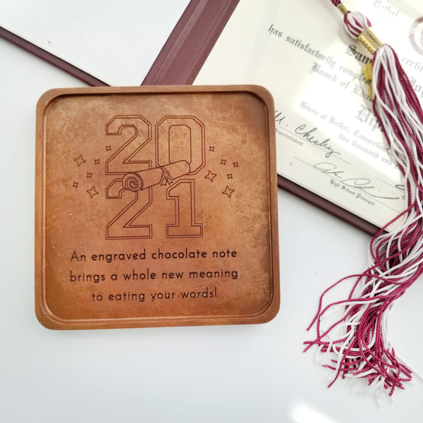 Noteworthy Chocolates Greetings 2021 Grad Personalized Chocolate Note Personalized custom