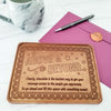 Above and Beyond Personalized Chocolate Certificate
