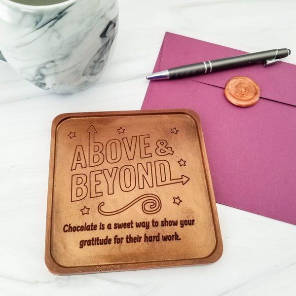 Above and Beyond Personalized Chocolate Note