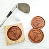 Noteworthy Chocolates Greetings Best By Par Personalized Chocolate Medallions - Box of 3 Personalized