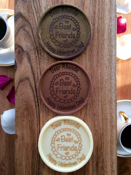 Best Friends Chocolate Medallions - Box of 3