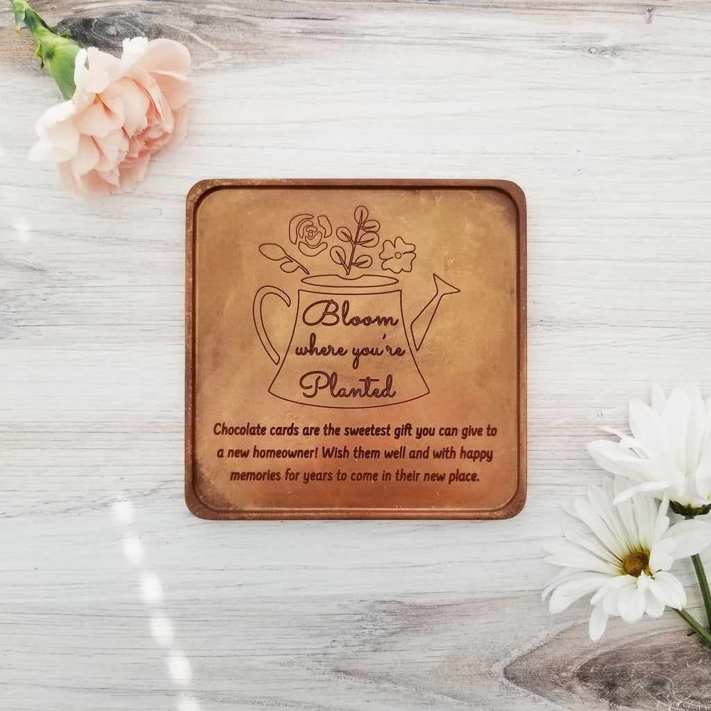 Noteworthy Chocolates Greetings Bloom Where You're Planted Personalized Chocolate Card Personalized