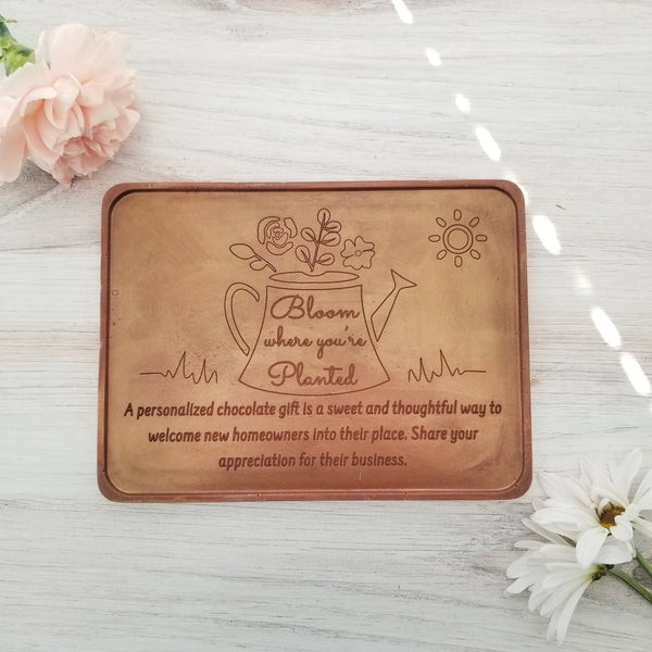 Noteworthy Chocolates Greetings Bloom Where You're Planted Personalized Chocolate Certificate Personalized custom