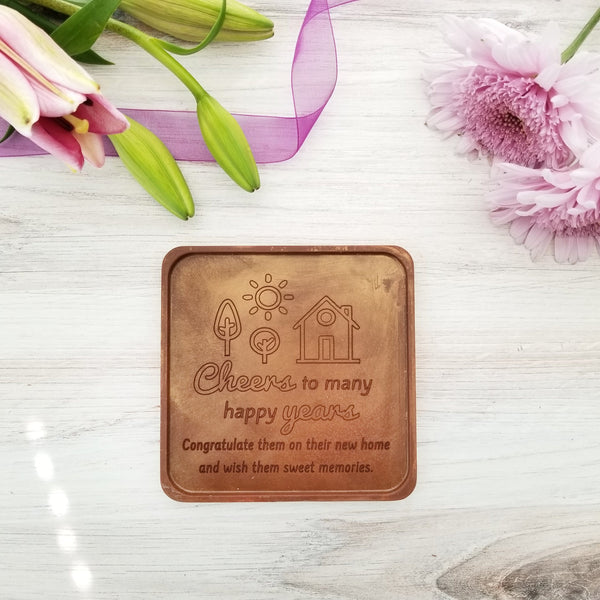 Noteworthy Chocolates Greetings Cheers To Many Happy Years Personalized Chocolate Note Personalized custom