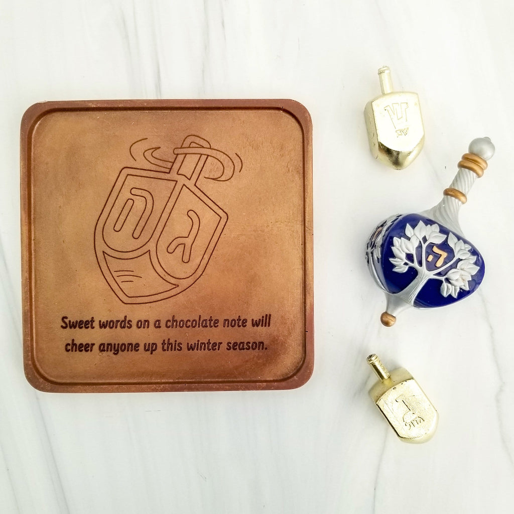 Dreidel Personalized Chocolate Note