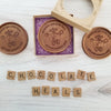 Noteworthy Chocolates Greetings Feel Better Bear Personalized Chocolate Medallions - Box of 3 Personalized