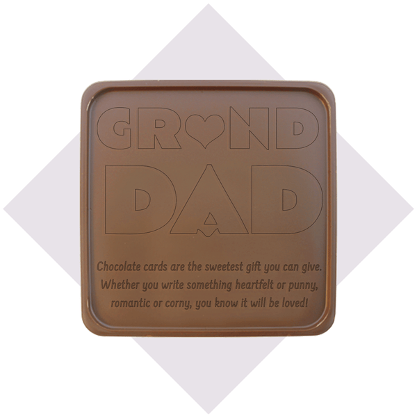 Grand Dad Chocolate Card