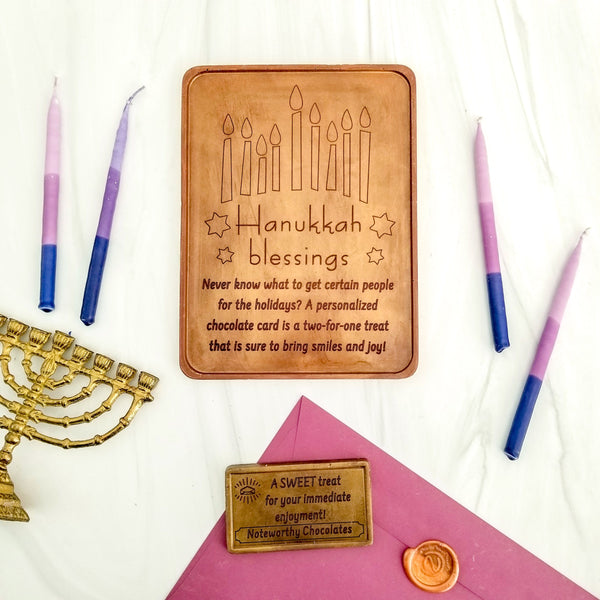 Hanukkah Blessings Personalized Chocolate Certificate