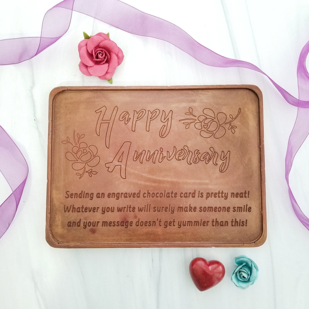 Noteworthy Chocolates Greetings Happy Anniversary Personalized Chocolate Certificate Personalized