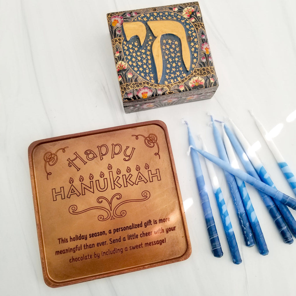Happy Hanukkah Personalized Chocolate Card