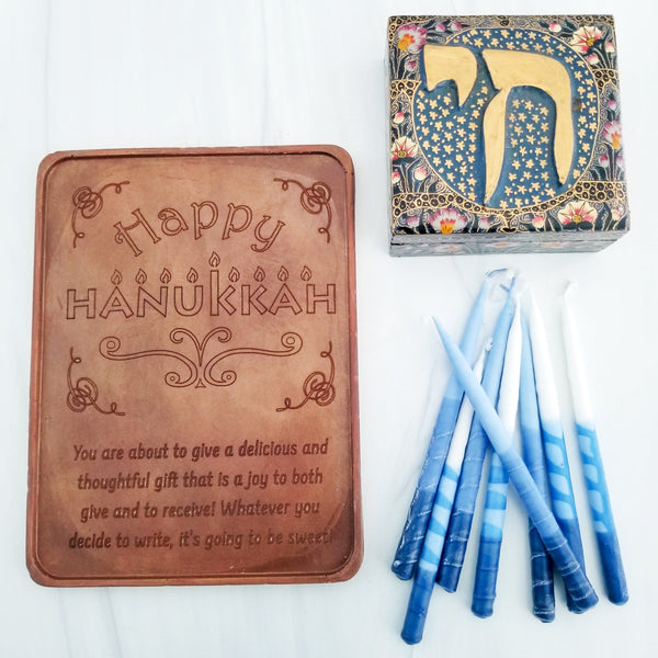 Happy Hanukkah Personalized Chocolate Certificate
