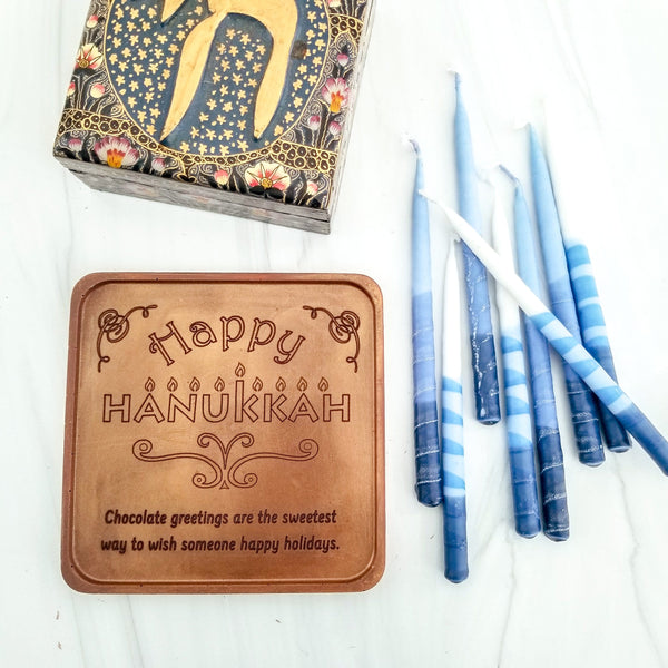 Happy Hanukkah Personalized Chocolate Note