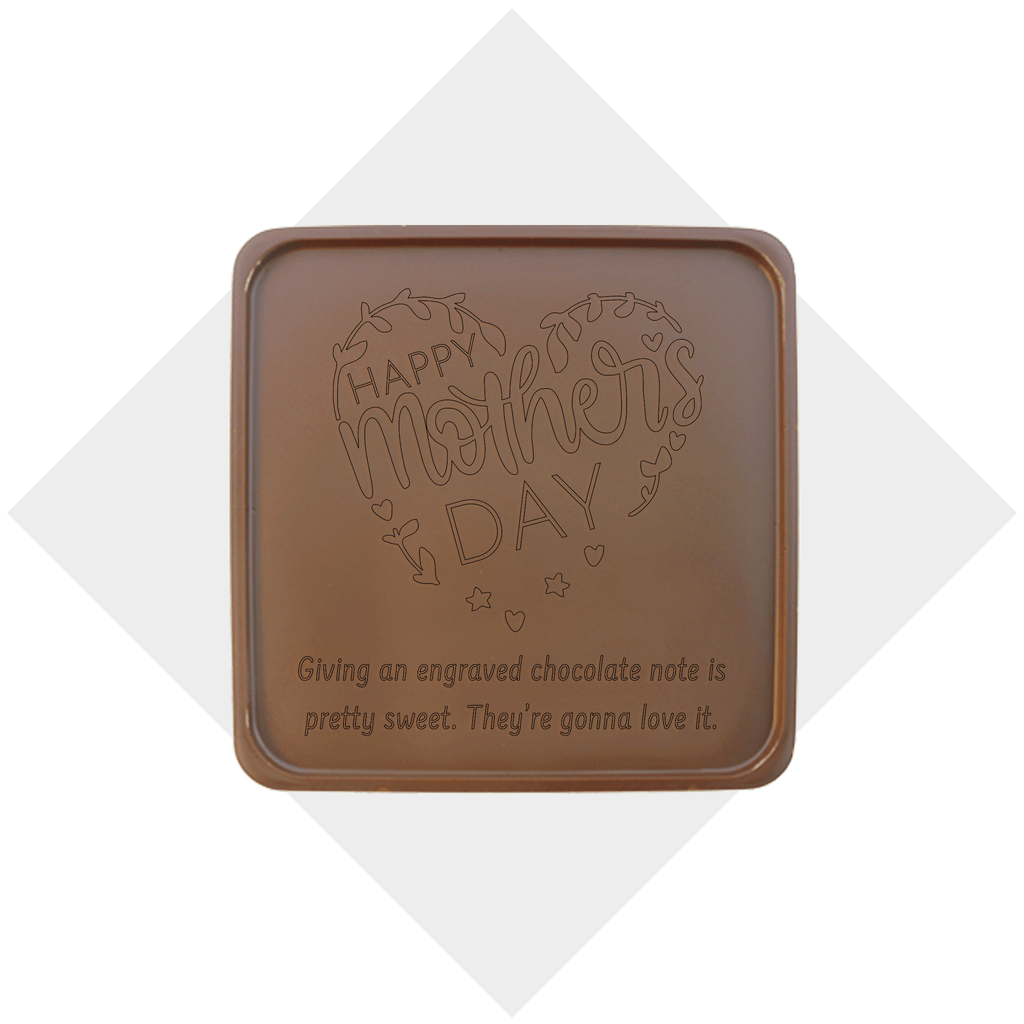 Happy Mother's Day Heart Chocolate Note