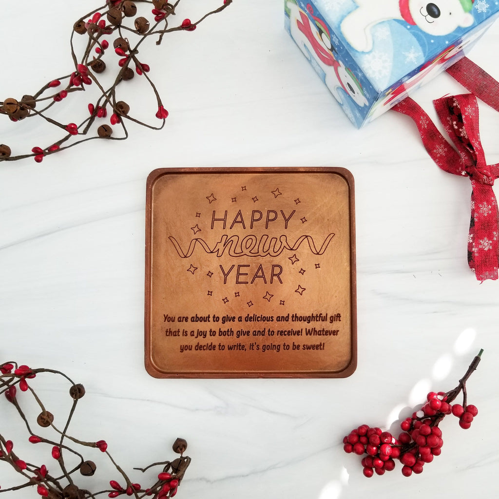 Happy New Year Personalized Chocolate Card