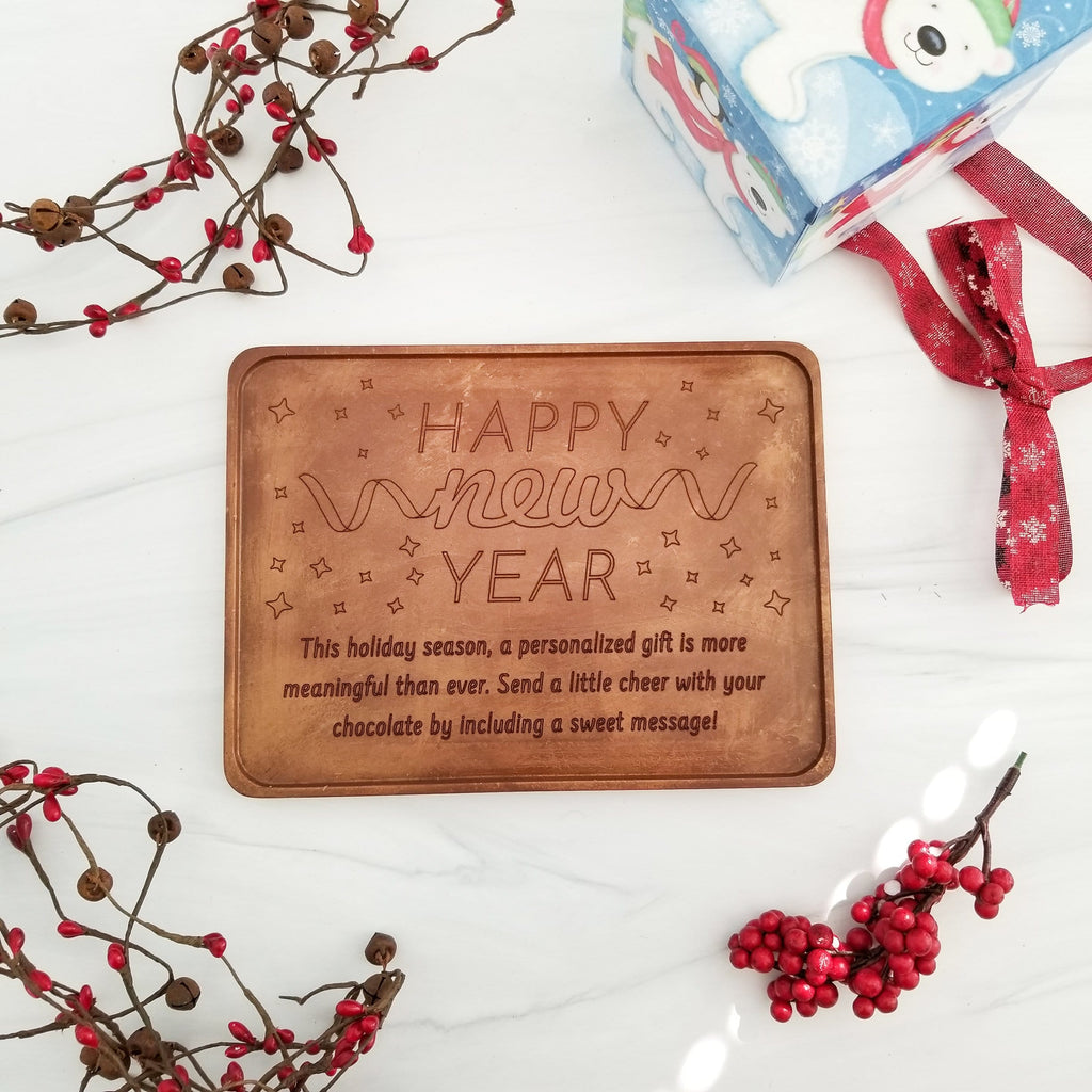 Happy New Year Personalized Chocolate Certificate