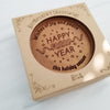 Happy New Year Personalized Chocolate Medallions - Box of 3